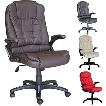 luxury office chairs leather. raygar brown luxury faux leather high back reclining recliner office chair swivel computer desk study chairs