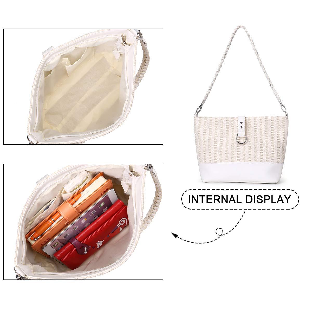 Straw Shoulder Bag Kadell Straw Clutch Women Handmade Straw Crossbody Bag Summer Beach Envelope Purse Wallet