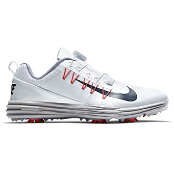 innovative design 077f4 ea4c2 Nike Lunar Command 2 Boa Homme Chaussures de Golf Blanc, EU 45 1 2