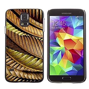 Be Good Phone Accessory // Dura Cáscara cubierta Protectora Caso Carcasa Funda de Protección para Samsung Galaxy S5 SM-G900 // Leaves Autumn Fall Golden Brown