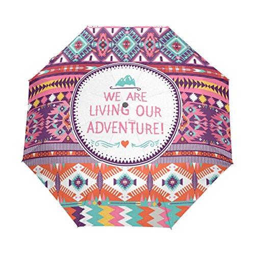 WIHVE Africa Art Culture Paisley Umbrella Auto Open Close Windproof Compact by WIHVE