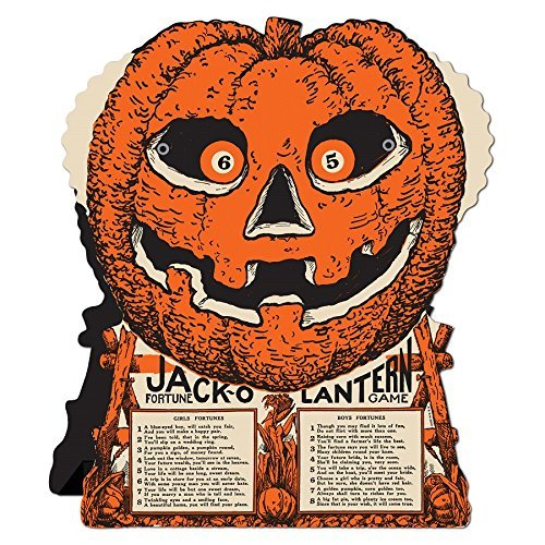Club Pack of 12 Jack-O-Lantern Fortune Wheel Party Favor Halloween Game -