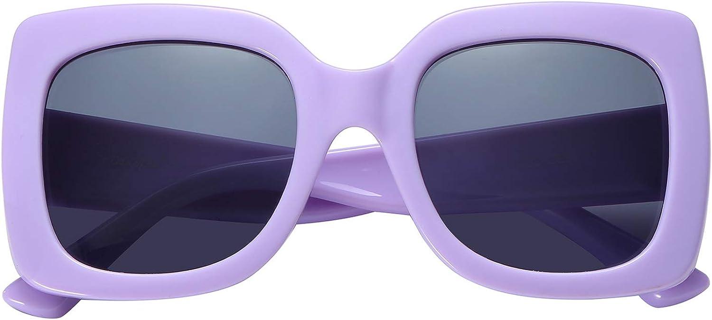 Polarspex Girls Elastic Square Oversized Kids Polarized Sunglasses BPA Free