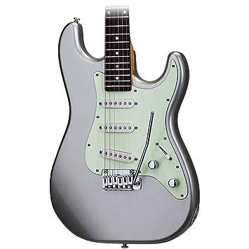 Schecter Nick Johnston Trad guitarra eléctrica en Atomic plata: Amazon.es: Instrumentos musicales