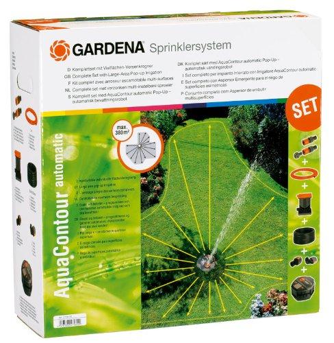 Gardena 2708 Aquacontour Automatic Fully Adjustable Large Area Underground Sprinkler Set