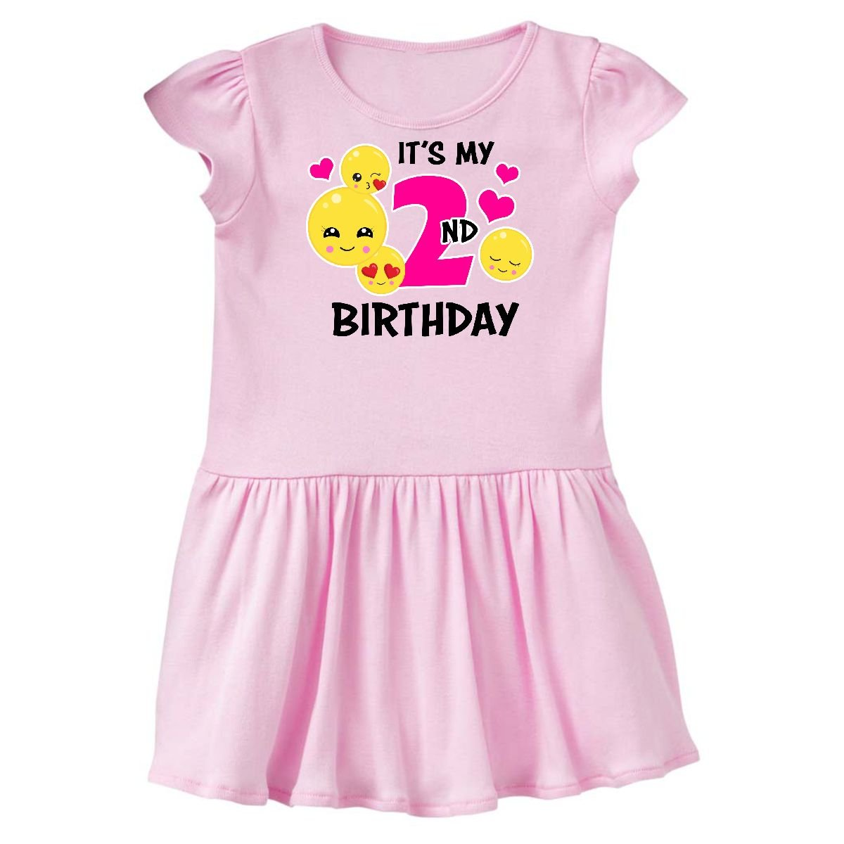 inktastic - Its My 2nd Birthday with Emojis Infant Dress 14-196255-197