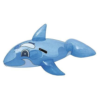 Dabuty Online, S.L. Flotador Hinchable Ballena Azul para Playa o Piscina Tamaño 117 x 71 cm: Amazon.es: Hogar