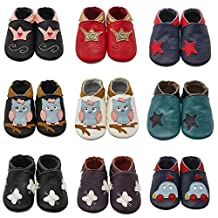 Sayoyo Baby Shoes Cute Walking Shoes Soft Leather Sole Infant Toddler Prewalker Shoes