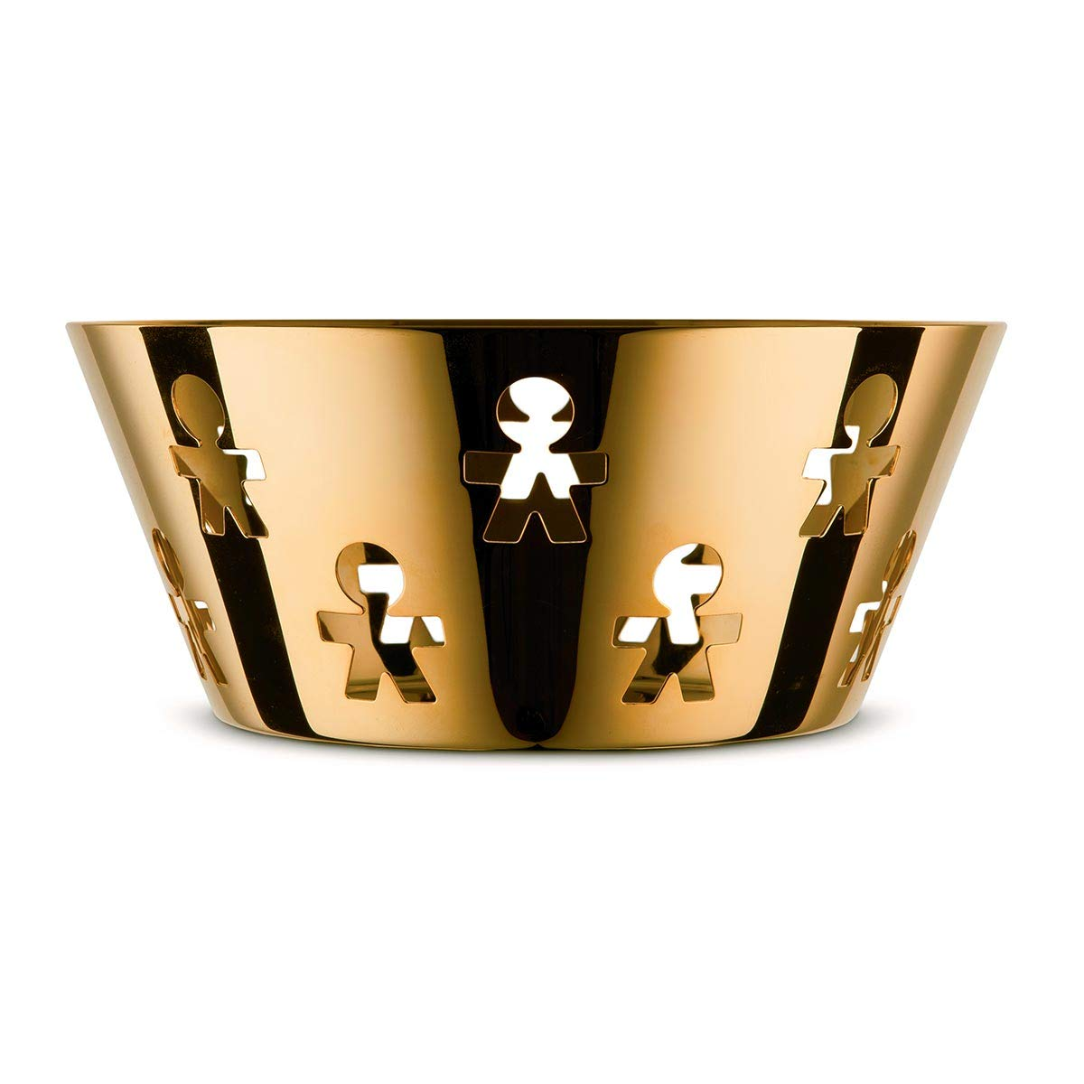 Alessi Girotondo Medium Bowl in Stainless Steel 24 Carat Gold Plated