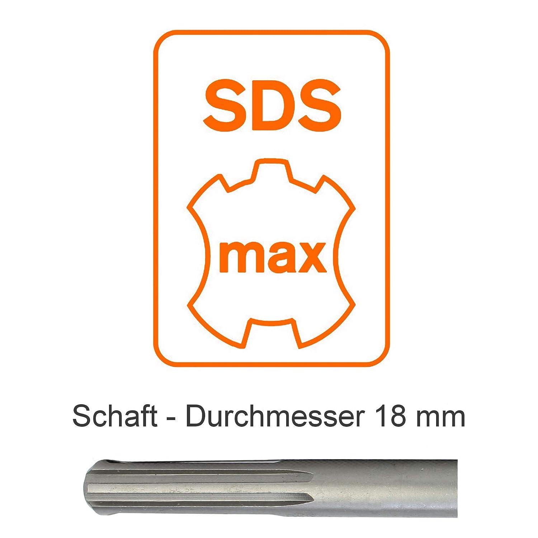 SDS Max Bohrer Steinbohrer Hammerbohrer Betonbohrer vierschneidig 38 x 600 mm