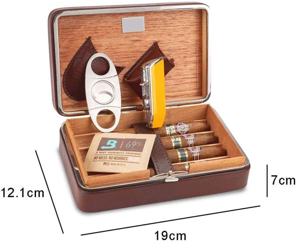ZHJXJHE Cedar Caja de Cigarros Puros Tijeras Kit de La Caja de ...