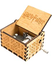 Iiloens Caja de música de Madera con manivela de Mano de Harry Potter, Caja de