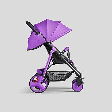 &Carrito de bebé Cochecito de bebé Ultra Ligero Portable Baby Trolley Ligero paraguas plegable (Color