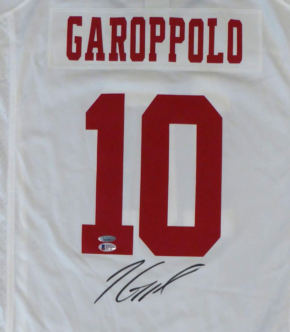 new arrivals f06f1 a0388 SAN FRANCISCO 49ERS JIMMY GAROPPOLO AUTOGRAPHED WHITE NIKE ...