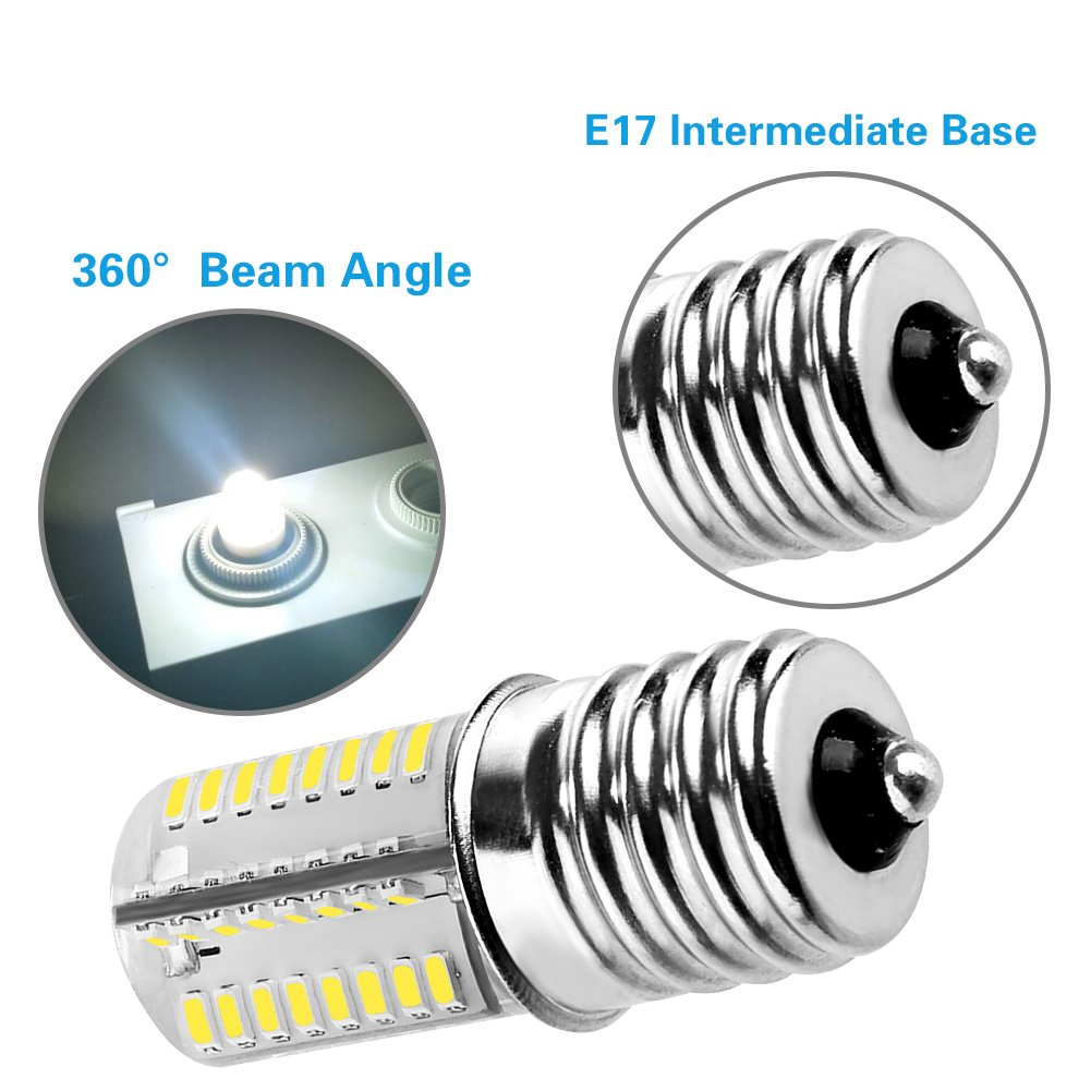 3-Pack for Microwave Oven Appliance 40W Halogen Bulb Equivalent 4W 6000K Daylight White Lakes E17 Dimmable LED Bulb