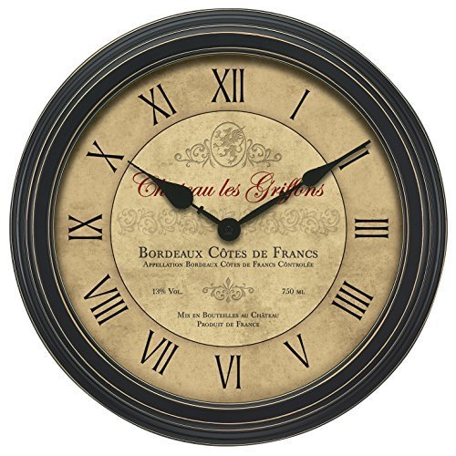 "50324 18"" Vintage Port Wine Wall Clock 50324"