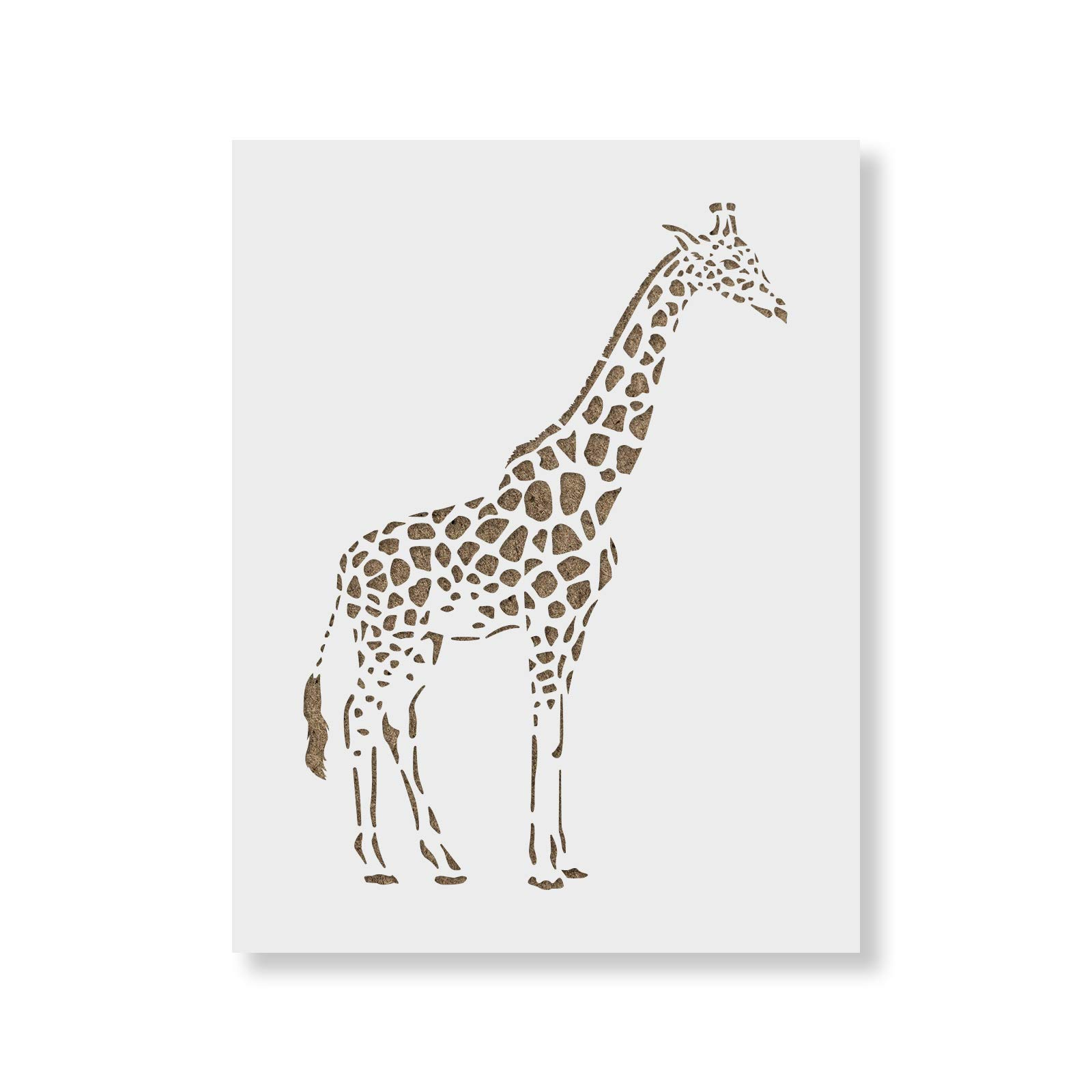 Giraffe Stencil Template - Reusable Stencil with Multiple Sizes Available