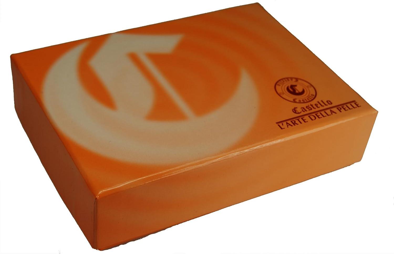 Castello Premium Italian Vacchetta Leather Slim Billfold Wallet w//RFID Chip Security