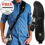 Dupe Accessories Quick Release Rapid Fire Camera Neck Strap w/Lens Cap Leash