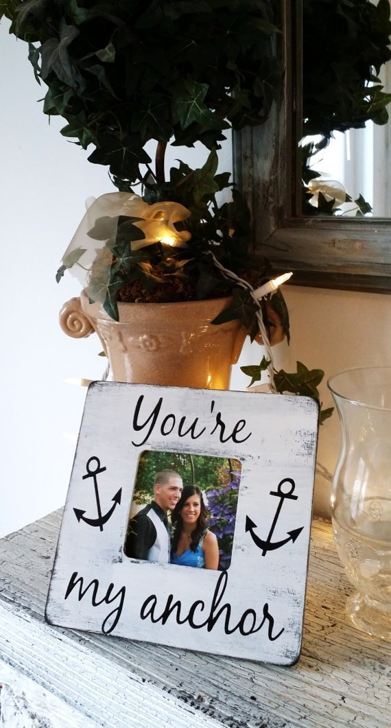 Nautical wedding decor, nautical home decor, gift for boat lover husband wife,