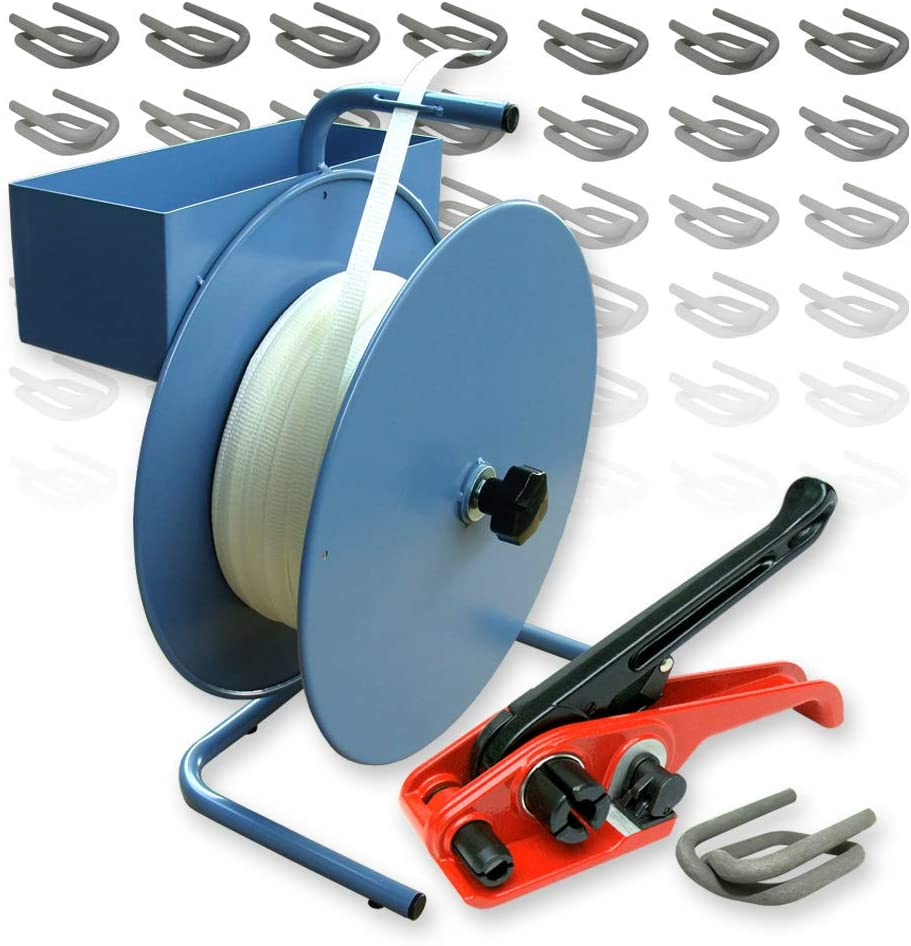 Bandspanner 9-19 mm Umreifungsgerät Haspelspanner für Textil Umreifungsband
