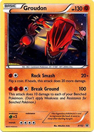 Pokemon X & Y Promo Single Card Rare Holo Groudon XY52 by Pokemon Center