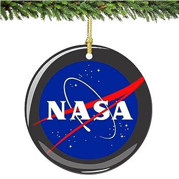 Image Unavailable - Amazon.com: City-Souvenirs NASA Christmas Ornament, Porcelain 2.75