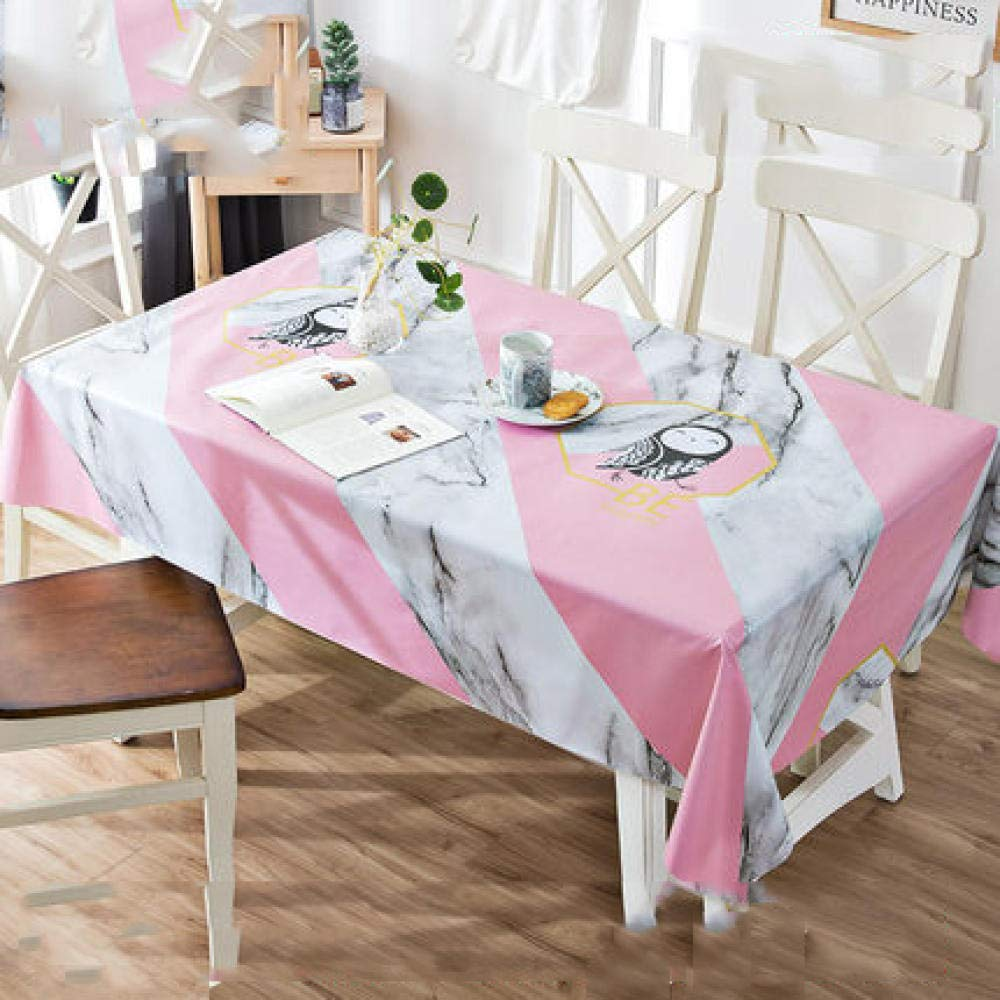 WJJYTX Wachstuch tischdecke, quadratische tischdecke klapptisch Abdeckung wasserdicht Polyester Baumwolle Land Garten für küchenmöbel marmor @ 135 * 220