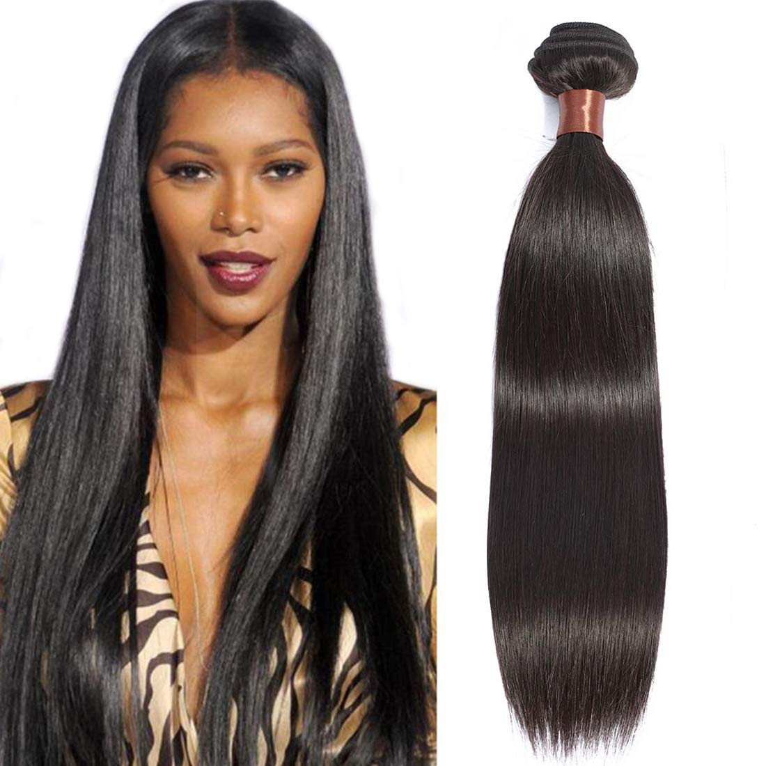ANGIE QUEEN Hair Peruvian Straight Hair 22 Inch One Bundle 100% Unprocessed Virgin Human Hair Weft Extensions 100G Nature Color(One Bundle)