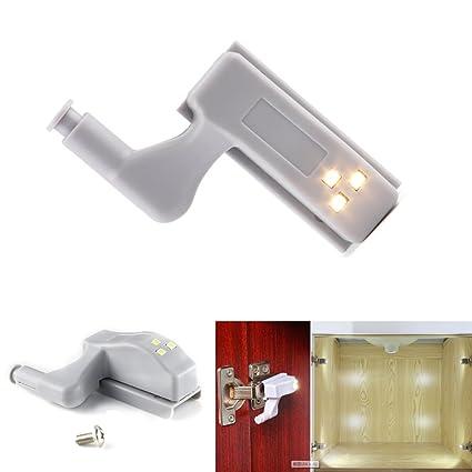 10pcs Led Under Cabinet Hinge Light Universal Wardrobe Light Sensor Led Night Lamp Warm/white Light Special Buy Furniture