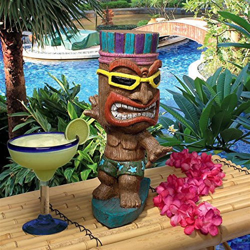 Design Toscano Kahuna Tiki Surfer Dude Statue, Full Color Review