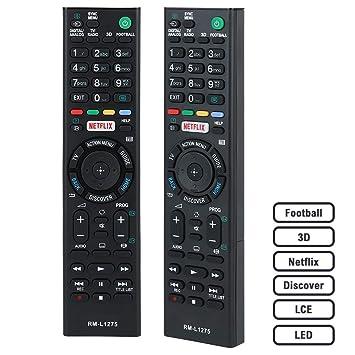 CEZO Sony - Mando a distancia universal para Smart TV Sony Led LCD con función de Netflix y 3D, no requiere codificación (RM L1275)