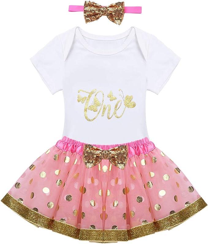 Agoky Vestido Princesa para Bebé Niñas Conjuntos Recién Nacido ...