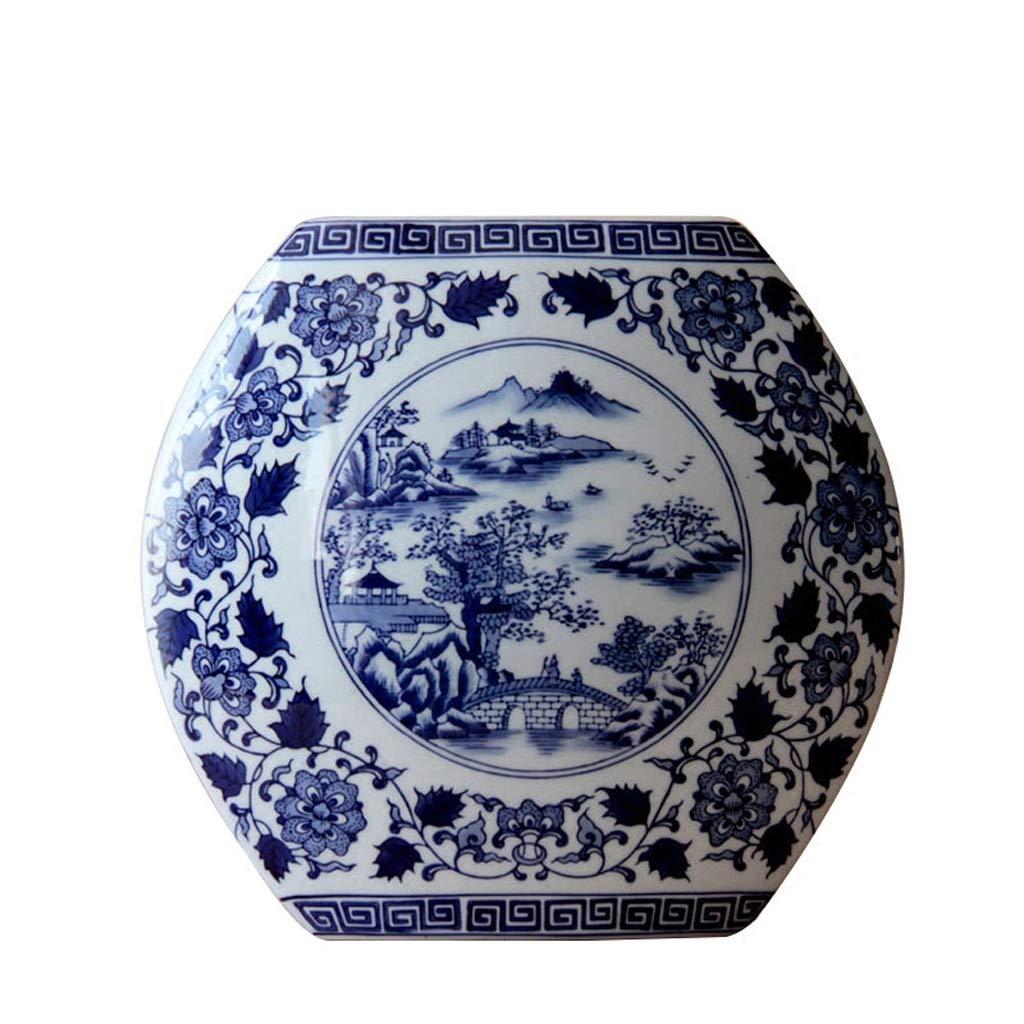 花瓶青と白の磁器クリエイティブフラワーインサートセラミック青と白の磁器家の装飾セラミック装飾品 LQX B07SHDNZ83