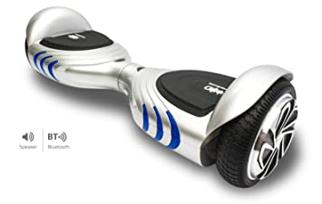 Intense Devices Patinete Eléctrico Hoverboard Silver ID Q2 - Certificado UL2272, Ruedas 6.5