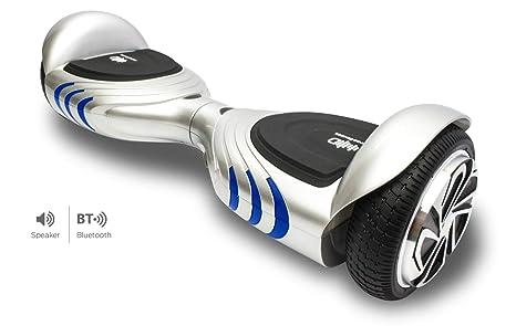 Intense Devices Patinete Eléctrico Hoverboard Silver ID Q2 - Certificado UL2272, Ruedas 6.5