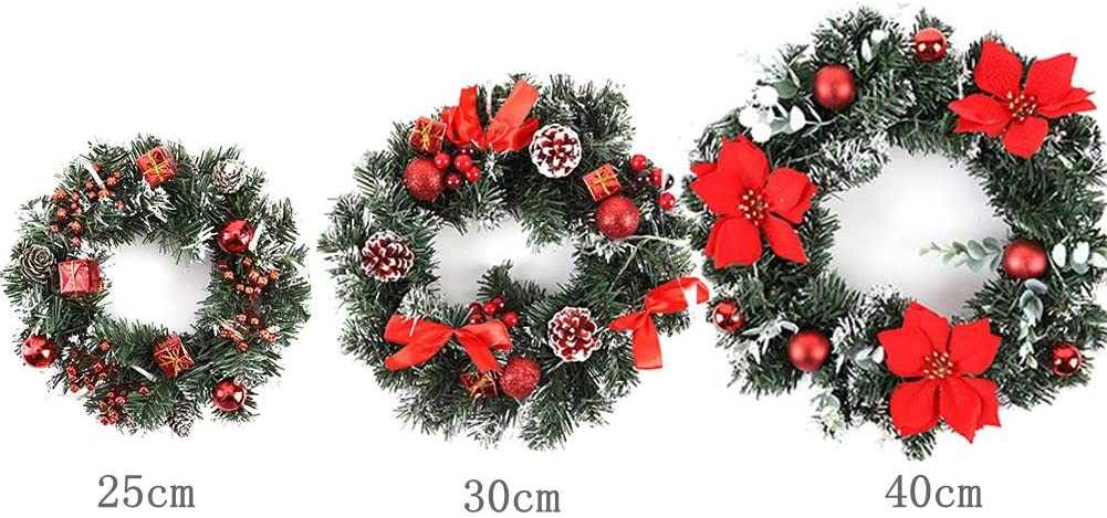 Large Christmas Wreath with LED Light Battery Operated Front Door Hanging Indoor Outdoor Decoration