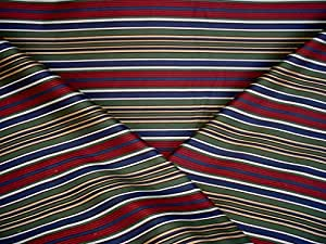 Circa 1801 / Valdese Weavers Talina - Southwest Jewel Toned Stripe Designer Upholstery Drapery Fabric - By the Yard