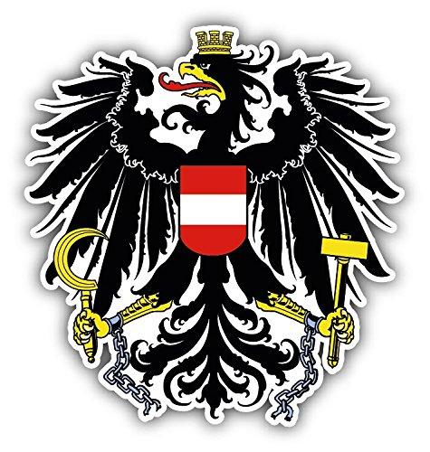 Austria Coat Of Arms Vinyl Decal Bumper Sticker 5'' X (Austria Coat Of Arms)