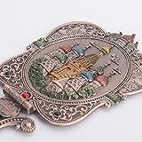 Nerien Vintage Castle Metal Hand Mirror Antique