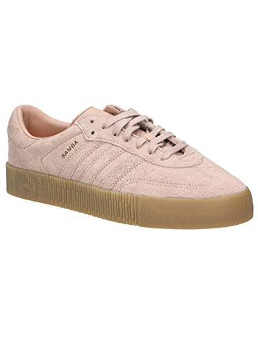 the best attitude 50ed4 d42e7 Image Unavailable. Image not available for. Color  adidas Womens Sambarose  Suede Ash Pearl Gum Trainers ...