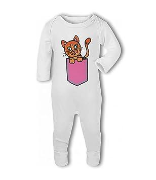 Kitten in a Pocket - Traje de pelele para bebé Talla:6-12 meses: Amazon.es: Bebé