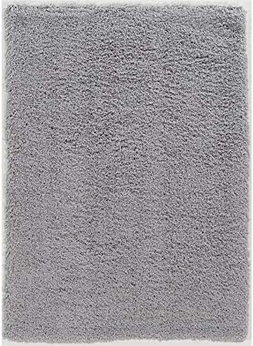 Linon Luxe Plush Shag Grey Area Rug 8x10