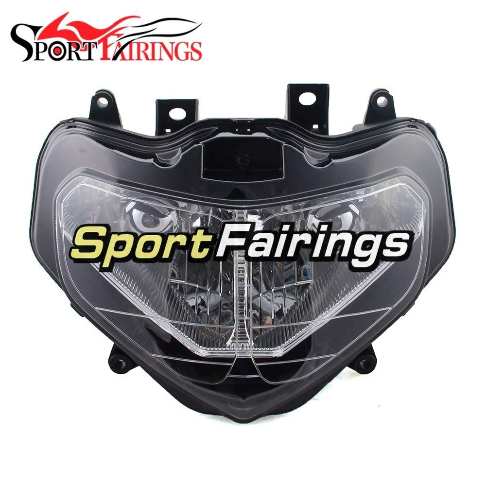 SPMOTO オートバイヘッドライトヘッドランプフロントヘッドライトハウジング用スズキ GSXR1000 k1 年 2001 2002 GSXR-1000 01 02 オートバイ ABS プラスチックフェアリングキット交換ヘッドランプ照明ランプクリア   B07QP724QZ