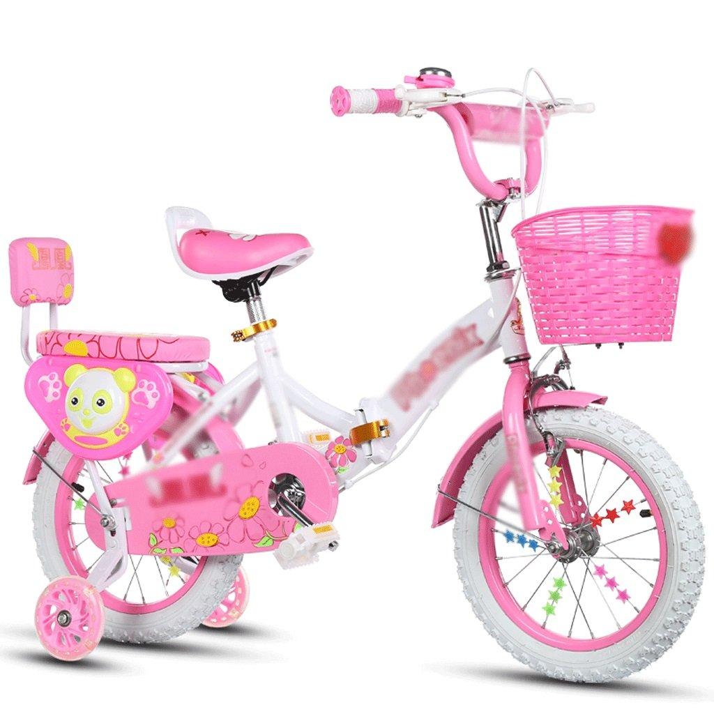 自転車 子供の自転車を折りたたむ2-4-6-7-8-9-10年の赤ん坊の女の子 (サイズ さいず : 14 inch) B07DYFFLRB 14 inch 14 inch