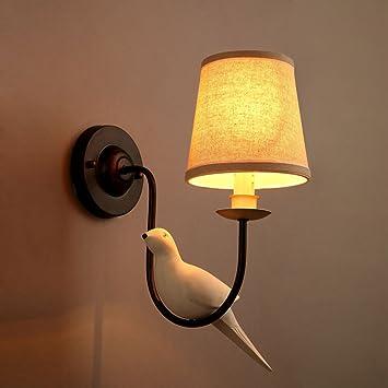 QQB Außenleuchte Bird Wandleuchte E14 Stoff Wandleuchte Schlafzimmer ...