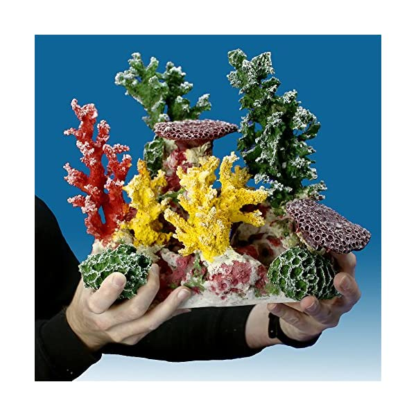 Instant Reef DM058 Artificial Coral Inserts Decor, Fake Coral Reef Decorations for Colorful Freshwater Fish Aquariums, Marine and Saltwater Fish Tanks 6