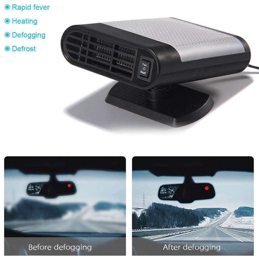 30 Secondes Rapide Chauffage Rapidement Savoureuse Defogger 12 V 150 W Portable Auto Chauffage en c/éramique LayOPO Neuf Multifonctionnel de Pare-Brise de Voiture Air Fan