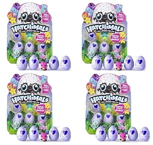 Price comparison product image Hatchimals - CollEGGtibles - 4-Pack + Bonus (Styles & Colors May Vary) - Bundle of Four