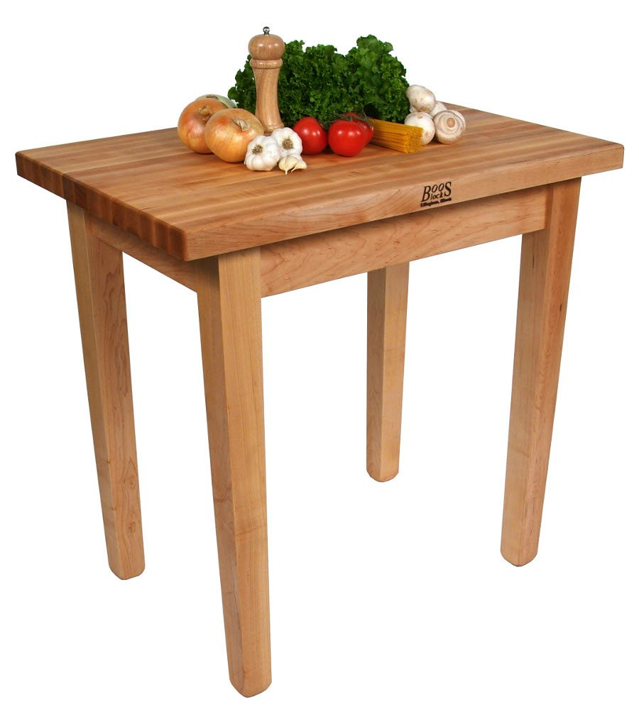 John Boos Country Work Table 48 x 36 x 35 - No Shelf - Maple by John Boos (Image #1)
